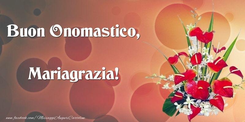 Cartoline di onomastico - Buon Onomastico, Mariagrazia