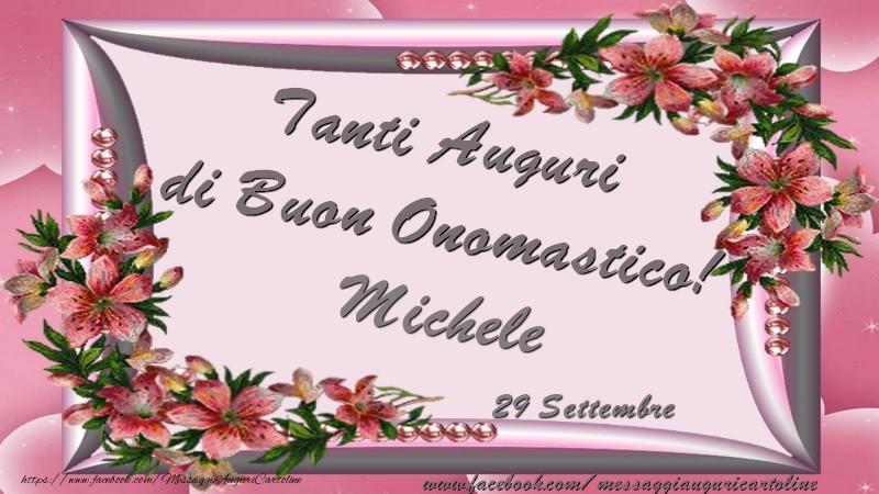 Très Tanti Auguri di Buon Onomastico! 29 Settembre Michele - Cartoline  EL54