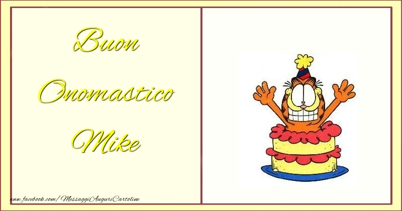 Cartoline di onomastico - Buon Onomastico Mike