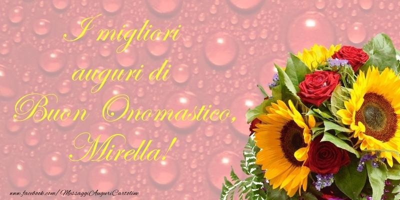 Cartoline di onomastico - I migliori auguri di Buon Onomastico, Mirella