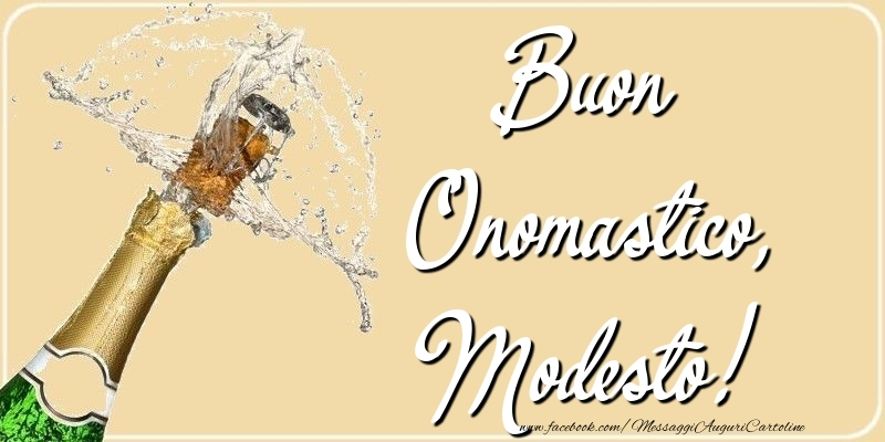 Cartoline di onomastico - Buon Onomastico, Modesto