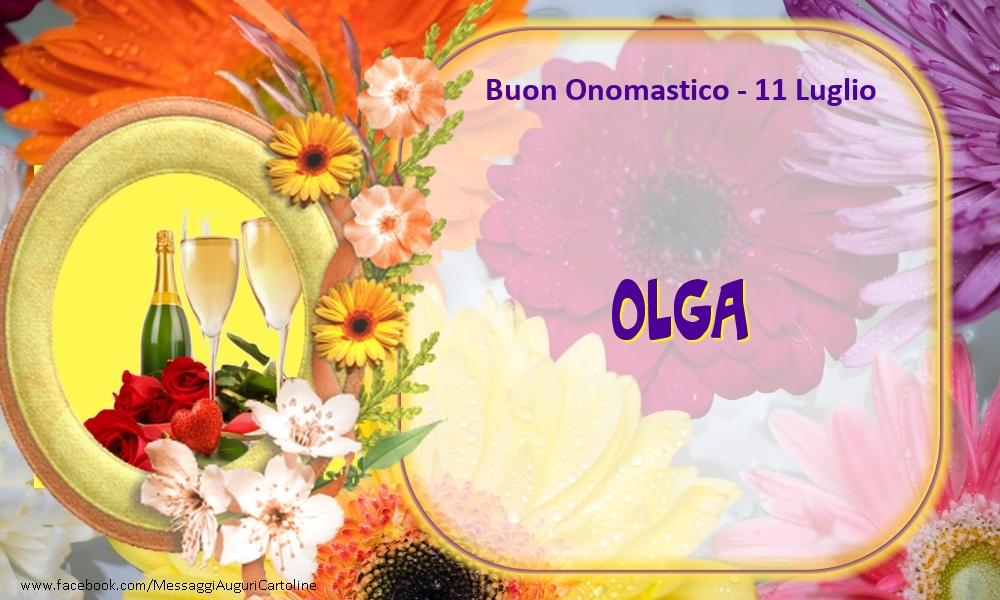 Cartoline di onomastico - Buon Onomastico, Olga! 11 Luglio