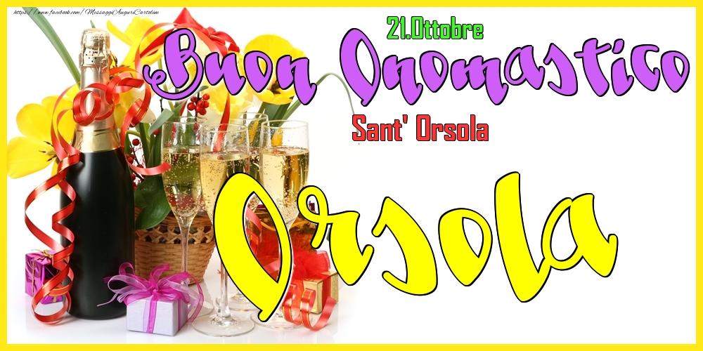 Cartoline di onomastico - 21.Ottobre - Buon Onomastico Orsola!