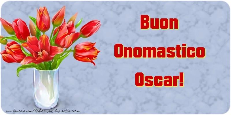 Cartoline di onomastico - Buon Onomastico Oscar