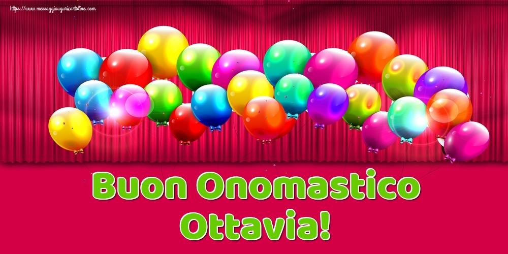 Cartoline di onomastico - Buon Onomastico Ottavia!