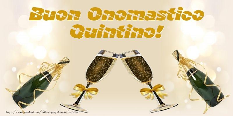 Cartoline di onomastico - Buon Onomastico Quintino!