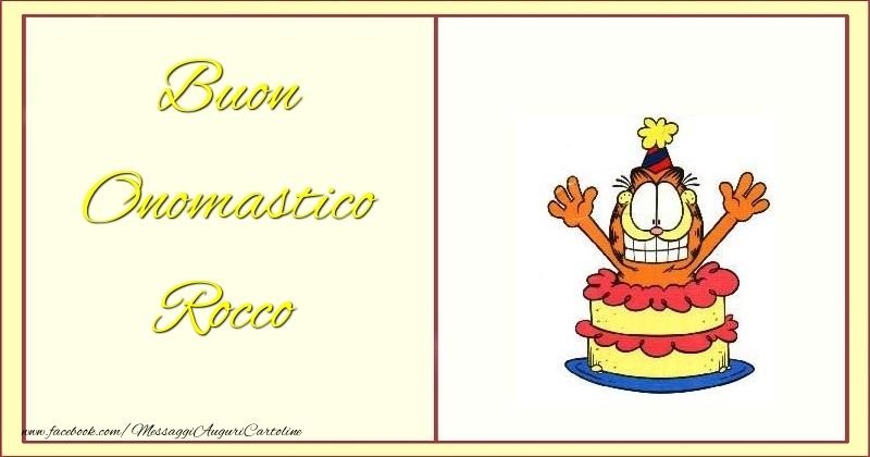 Cartoline di onomastico - Buon Onomastico Rocco
