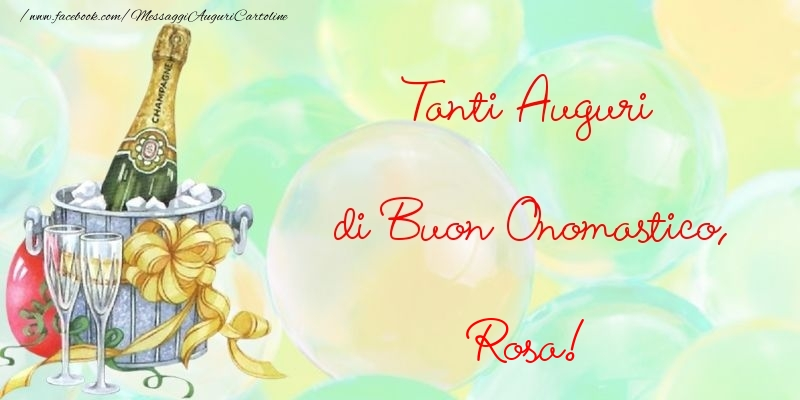 Cartoline di onomastico - Tanti Auguri di Buon Onomastico, Rosa