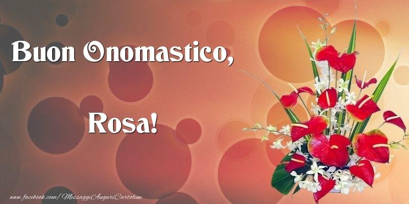 Cartoline di onomastico - Buon Onomastico, Rosa