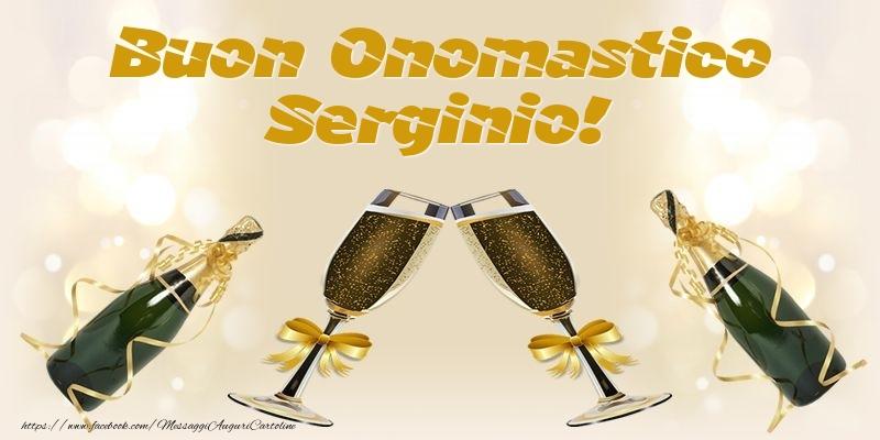 Cartoline di onomastico - Buon Onomastico Serginio!