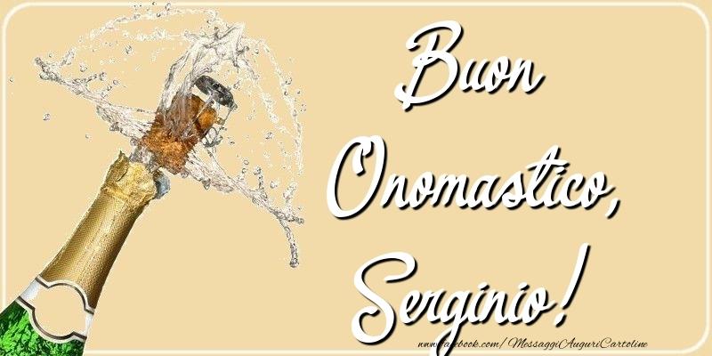 Cartoline di onomastico - Buon Onomastico, Serginio