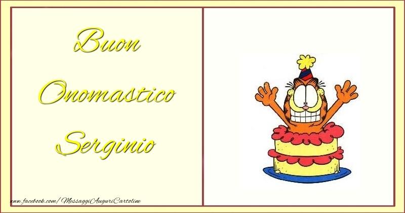 Cartoline di onomastico - Buon Onomastico Serginio