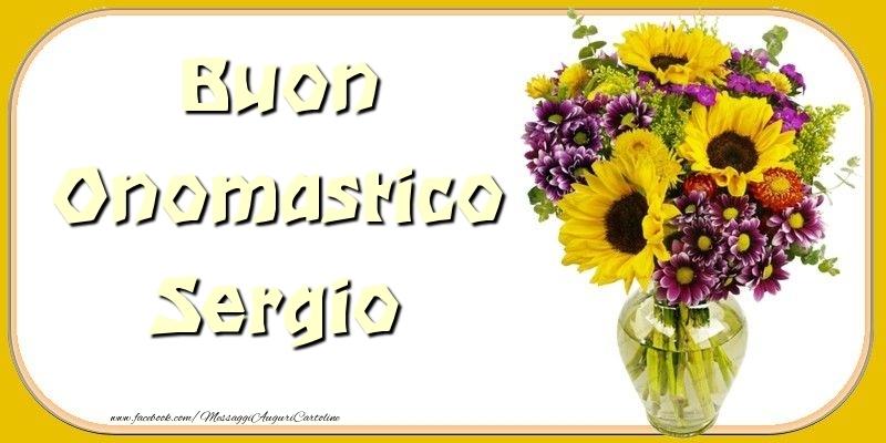 Cartoline di onomastico - Buon Onomastico Sergio