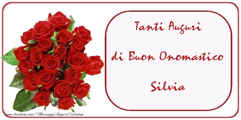Cartoline di onomastico - Tanti Auguri di Buon Onomastico Silvia
