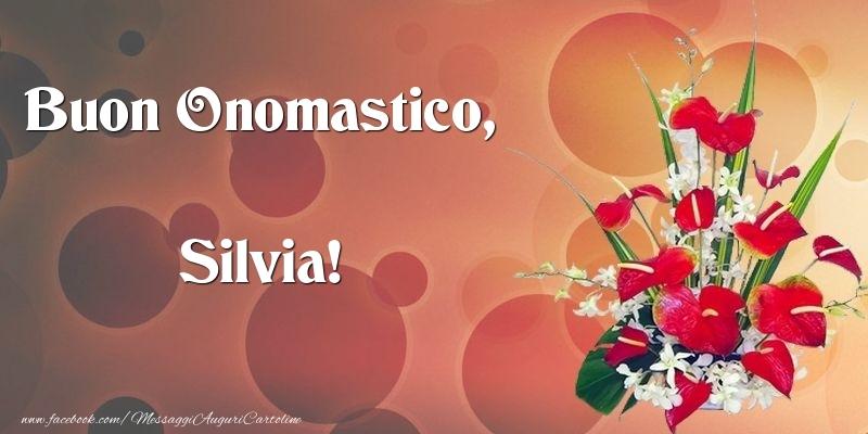 Cartoline di onomastico - Buon Onomastico, Silvia