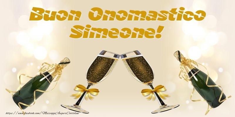 Cartoline di onomastico - Buon Onomastico Simeone!