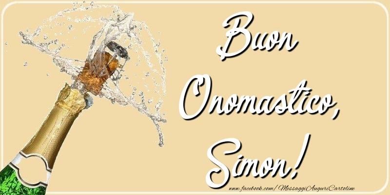 Cartoline di onomastico - Buon Onomastico, Simon