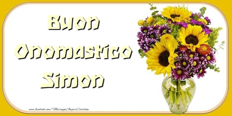 Cartoline di onomastico - Buon Onomastico Simon