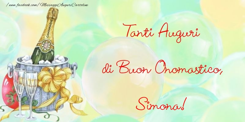 Cartoline di onomastico - Tanti Auguri di Buon Onomastico, Simona