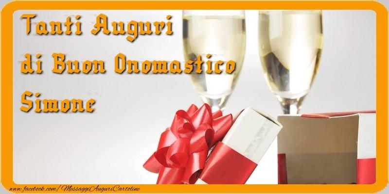 Preferenza Tanti Auguri di Buon Onomastico, Simone - Cartoline di onomastico  UP49