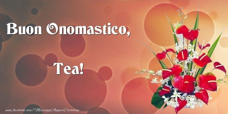 Cartoline di onomastico - Buon Onomastico, Tea