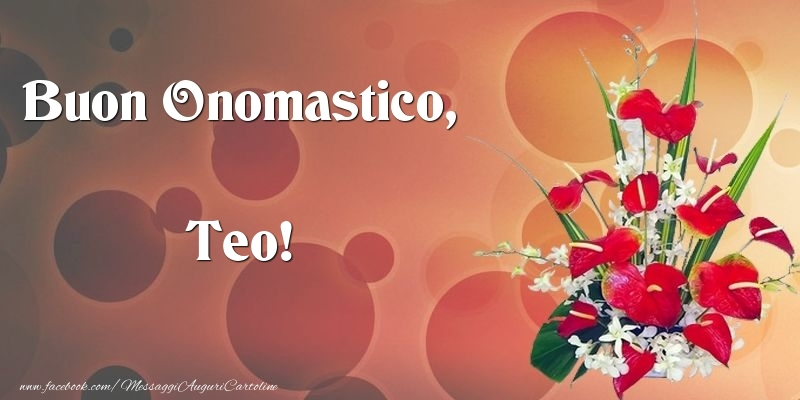 Cartoline di onomastico - Buon Onomastico, Teo