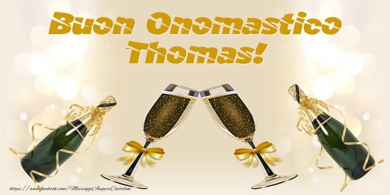 Cartoline di onomastico - Buon Onomastico Thomas!