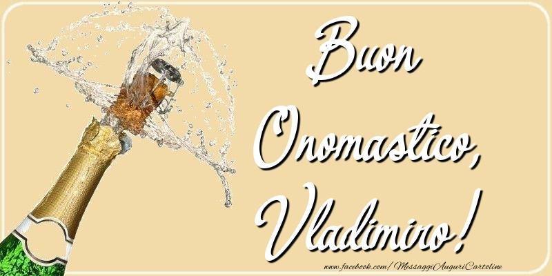Cartoline di onomastico - Buon Onomastico, Vladimiro