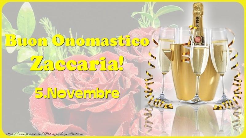 Cartoline di onomastico - Buon Onomastico Zaccaria! 5.Novembre -