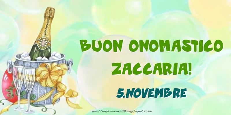 Cartoline di onomastico - Buon Onomastico, Zaccaria! 5.Novembre