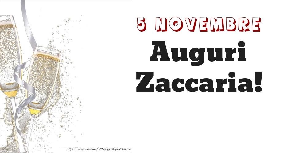 Cartoline di onomastico - Auguri Zaccaria! 5 Novembre