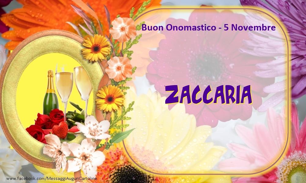 Cartoline di onomastico - Buon Onomastico, Zaccaria! 5 Novembre