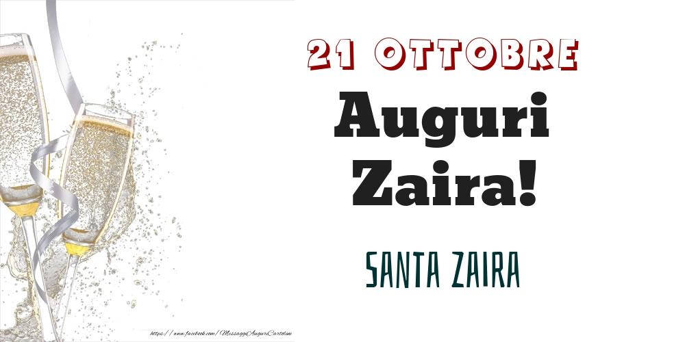 Cartoline di onomastico - Santa Zaira Auguri Zaira! 21 Ottobre
