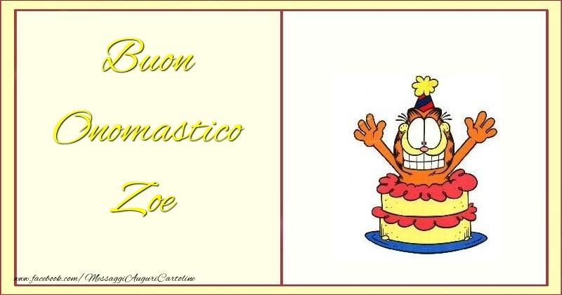 Cartoline di onomastico - Buon Onomastico Zoe