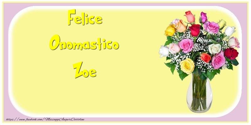Cartoline di onomastico - Felice Onomastico Zoe