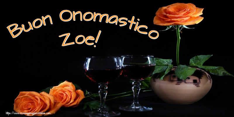 Cartoline di onomastico - Buon Onomastico Zoe!