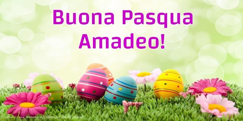 Cartoline di Pasqua - Buona Pasqua Amadeo!