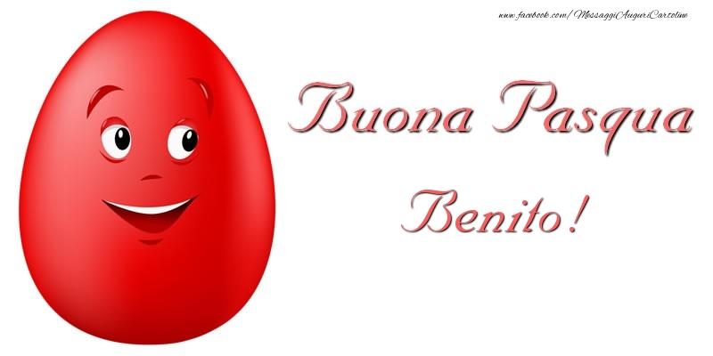 Cartoline di Pasqua - Buona Pasqua Benito!