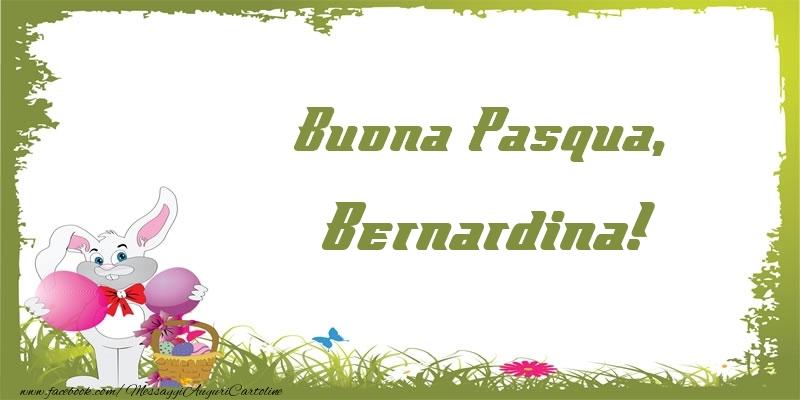 Cartoline di Pasqua - Buona Pasqua, Bernardina!