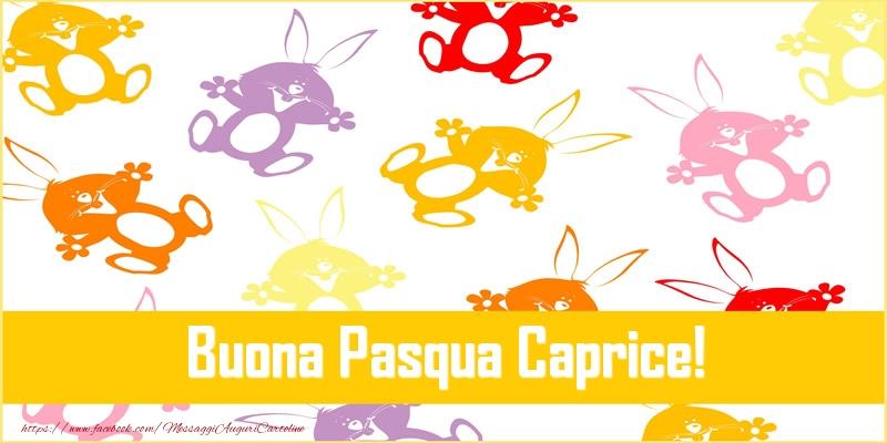 Cartoline di Pasqua - Buona Pasqua Caprice!