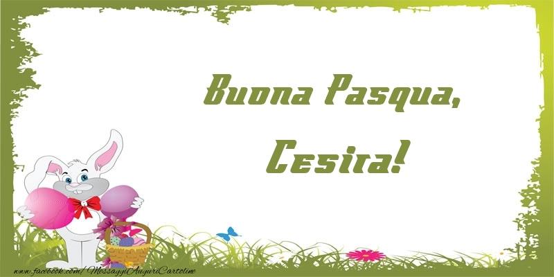 Cartoline di Pasqua - Buona Pasqua, Cesira!