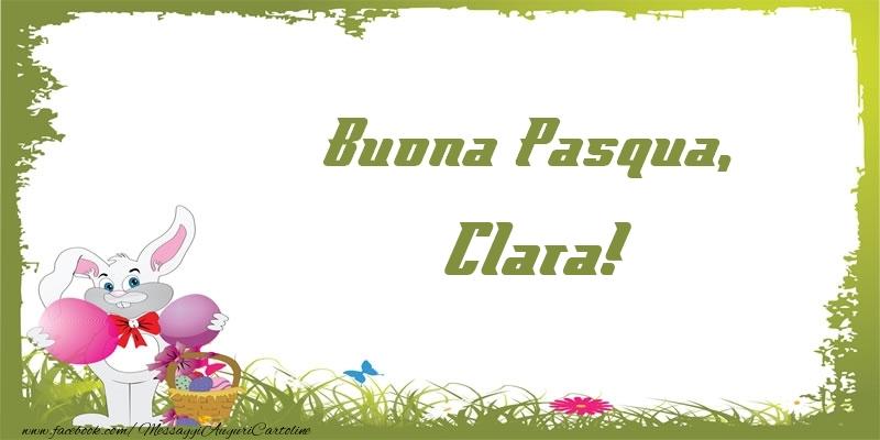 Cartoline di Pasqua - Buona Pasqua, Clara!