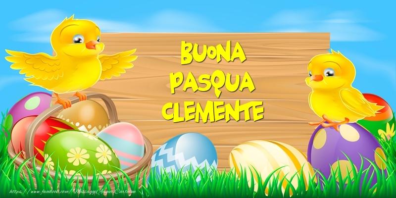 Cartoline di Pasqua - Buona Pasqua Clemente!