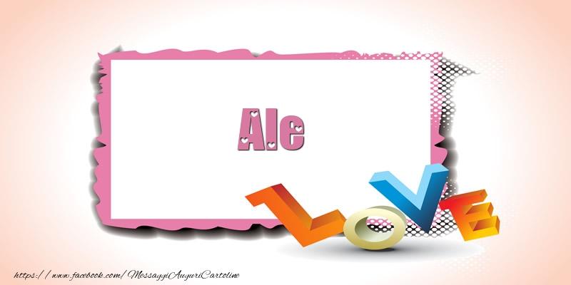 Cartoline di San Valentino - Ale Love