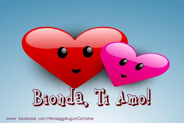 Cartoline di San Valentino - Bionda, ti amo!