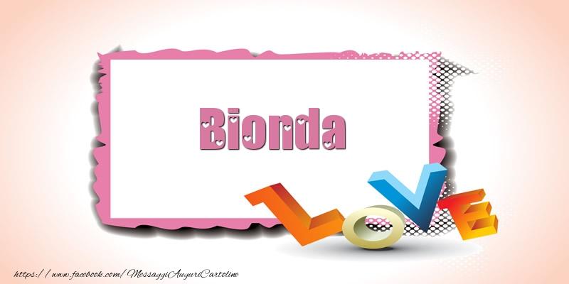 Cartoline di San Valentino - Bionda Love