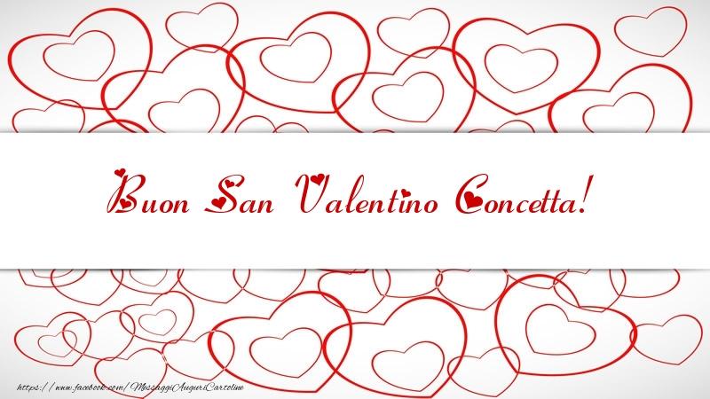 Cartoline di San Valentino - Buon San Valentino Concetta!