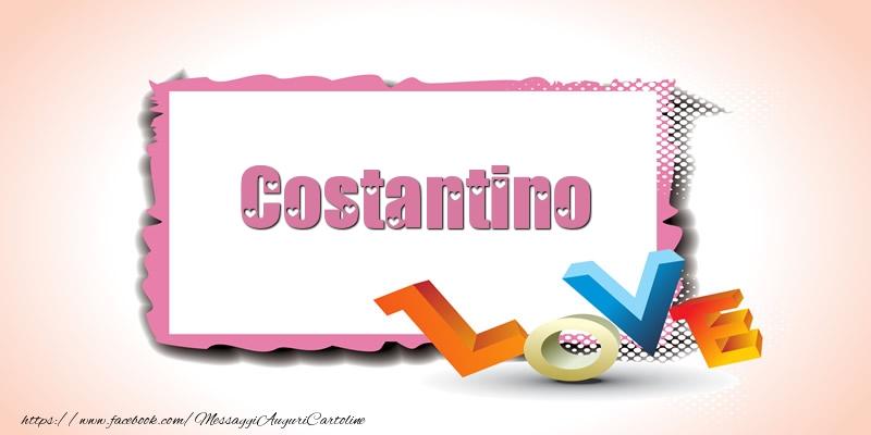 Cartoline di San Valentino - Costantino Love