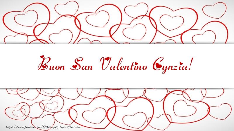 Cartoline di San Valentino - Buon San Valentino Cynzia!