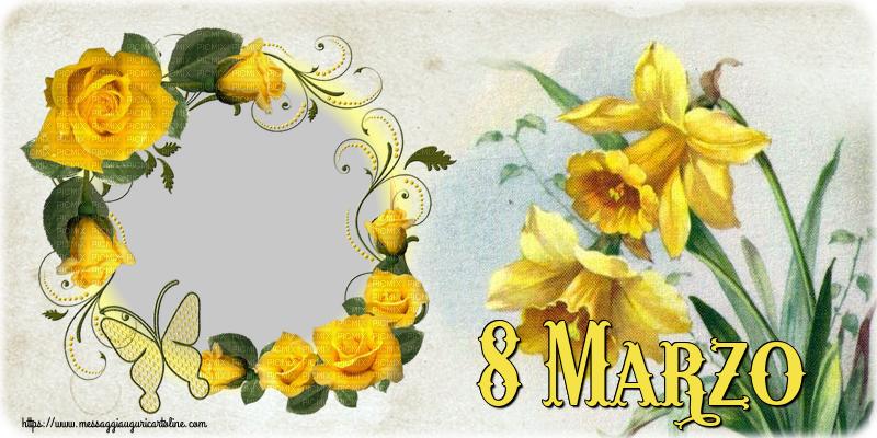 Cartoline personalizzate di 8 Marzo - 8 Marzo - Cornice foto per la Festa delle Donne